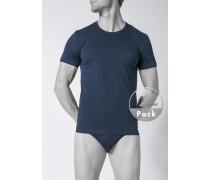 T-Shirts, Baumwolle, marineblau