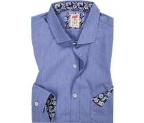 Hemd, Chambray, bleu