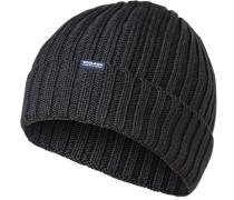 Mütze, Wolle, graublau