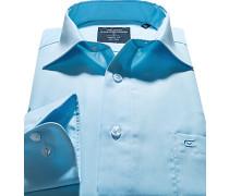 Hemd, Modern Fit, Popeline, hellblau
