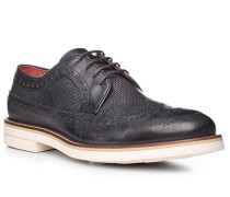 Schuhe Budapester, Leder, azzurro