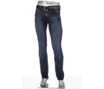 Cosy Blue-Jeans Pipe, Regular Slim Fit, Baumwoll-Stretch