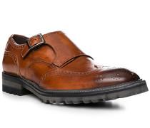 Schuhe Monkstrap, Leder, cognac