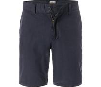Hose Shorts, Baumwolle, marine