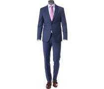 Anzug, Slim Fit, Schurwoll-Stretch