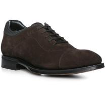 Schuhe Oxford, Veloursleder , dunkelbraun