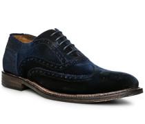 Schuhe Oxford, Samt, dunkelblau