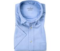Kurzarm-Hemd, Comfort Fit, Oxford, hellblau