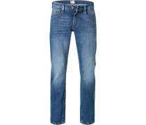 Blue-Jeans, Slim-Fit, Baumwoll-Stretch