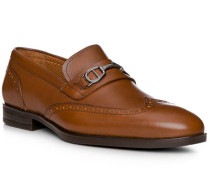 Schuhe Loafer, Kalbleder, cognac
