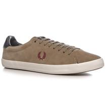 Schuhe Sneaker, Veloursleder, greige