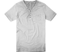 T-Shirt, Body Fit, Baumwolle, meliert