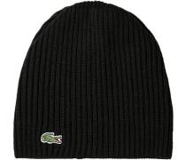 Mütze, Schurwolle, schwarz