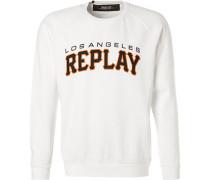 Pullover Sweater, Baumwolle, weiß