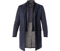 Mantel, Wolle, rauchblau