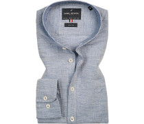 Hemd, Shape Fit, Baumwolle-Leinen
