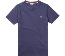 T-Shirt, Baumwolle, azurblau