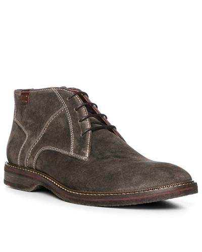 Lloyd Herren Schuhe Stiefeletten, Kalbvelours, graubraun