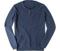 Pullover, Baumwolle, marineblau