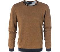 Pullover, Merinowolle, orangebraun