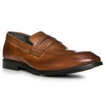 Schuhe Slipper, Leder, cognac