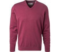 Pullover, Baumwolle, violett