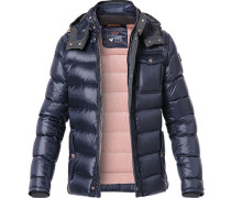 Daunenjacke James1, Mikrofaser, navy