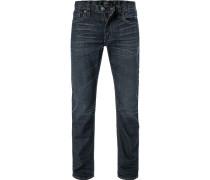 Blue-Jeans, Baumwoll-Stretch, dunkelblau