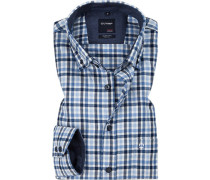 Hemd, Casual Modern Fit, Flanell