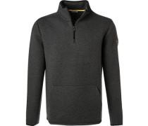 Pullover Troyer, Baumwolle, dunkelgrau