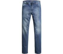 Jeans, Modern Fit, Baumwoll-Strech