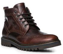 Schuhe Boots, Leder, rotbraun