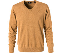 Pullover, Baumwolle, camel