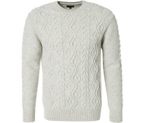 Pullover, Wolle, wollweiß