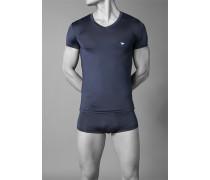 T-Shirt, Microfaser, nachtblau
