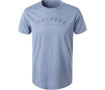 T-Shirt, Classic Fit, Baumwolle, rauchblau
