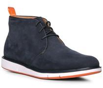 Schuhe Stiefeletten, Nubukleder, navy