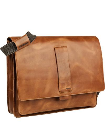 Strellson Herren Tasche Messenger Bag, Rindleder