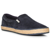 Schuhe Slip Ons, Veloursleder, navy