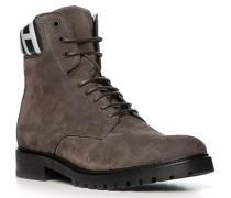 Schuhe Boots, Veloursleder, mittelgrau