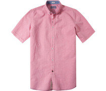 Hemd, Modern Fit, Baumwolle, lachs
