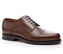 Schuhe Derby, Kalbleder, mittelbraun