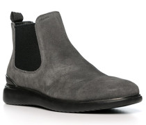 Schuhe Chelsea-Boots, Leder, dunkelgrau