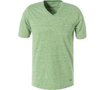 T-Shirt, Modern Fit, Mikrofaser-Baumwolle