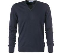 Pullover, Merinowolle, dunkelblau