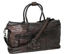 Tasche , Handgepäck, Rindleder, dunkelbraun