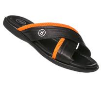 Schuhe Pantoletten, Leder, -orange