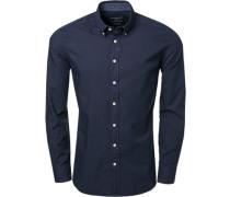 Hemd, Slim Fit, Oxford, dunkelblau
