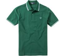 Polo-Shirt Polo, Baumwoll-Piqué, dunkelgrün