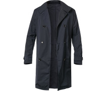 Mantel Trenchcoat, Mikrofaser, navy